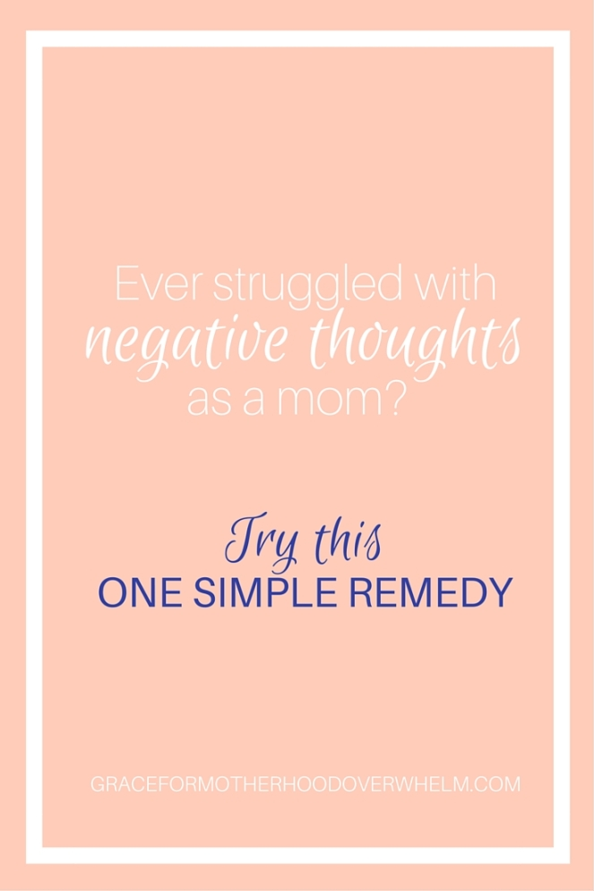 Ever struggled with negative thoughts as a mom-
